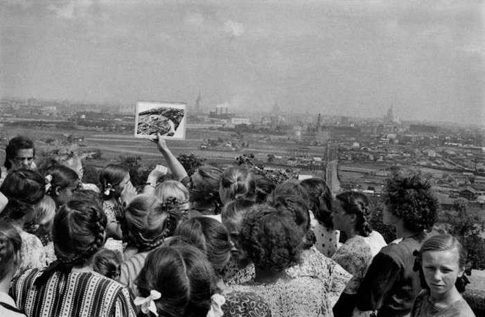 Анри Картье-Брессон и Москва 1954 (46 фото)