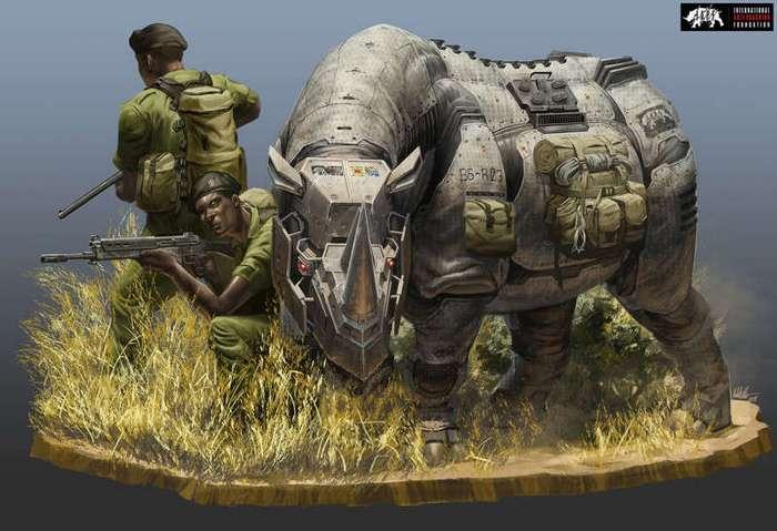 Стимпанк носорог (34 фото)