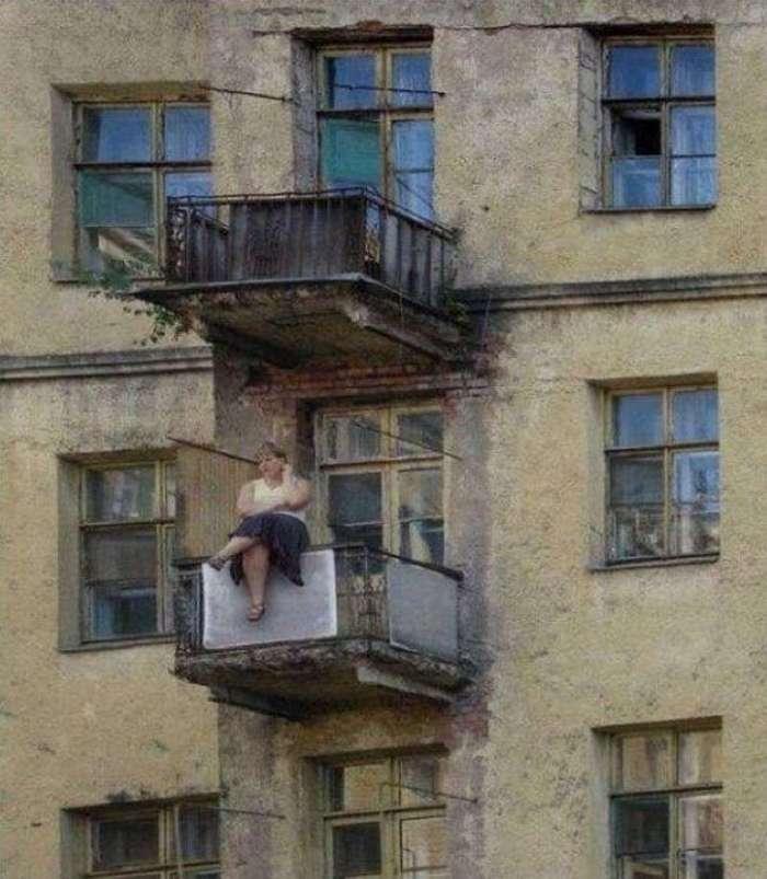 Этот суровый российский балкон.