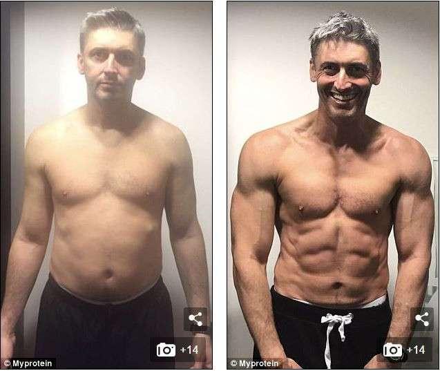 45-летний отец троих детей с пивным животиком за 12 недель превратился в бога фитнеса (6 фото)