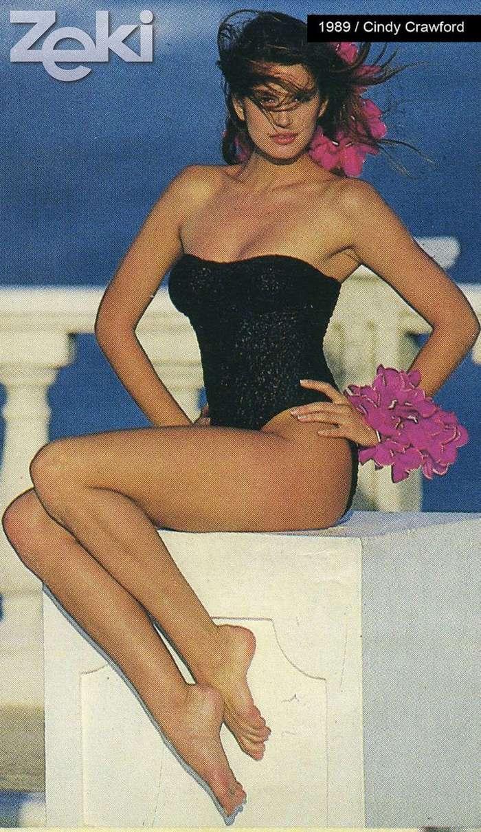 Синди Кроуфорд в рекламе купальников, 1989 год (29 фото)