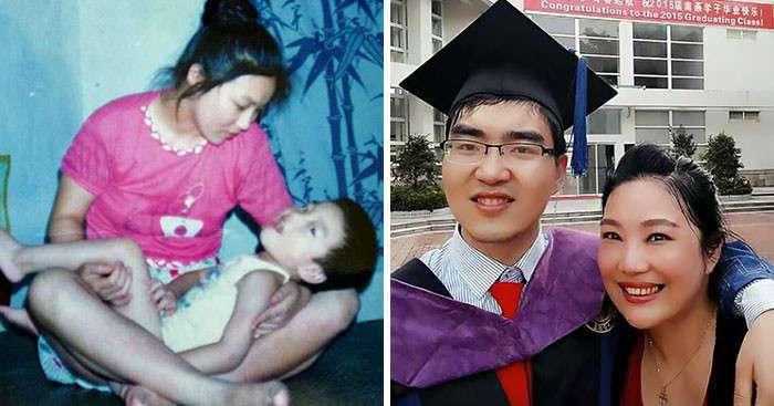 Мать-одиночка отказалась бросить сына-инвалида, и теперь он студент Гарварда (5 фото)
