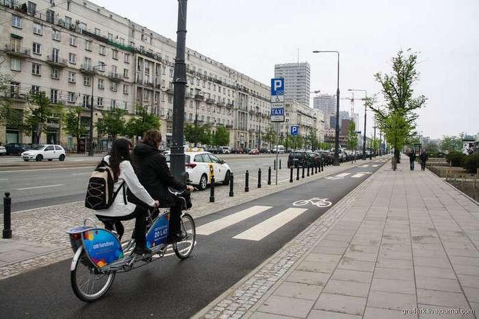 Варшава велосипедная. Чему стоит поучиться (43 фото)