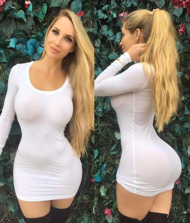 большие сиськи короткое платье