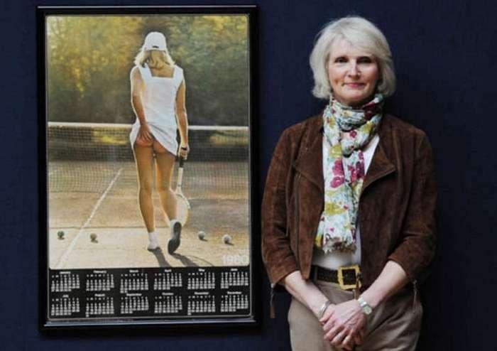 Самая продаваемая фотография в истории: голая теннисистка (2 фото)