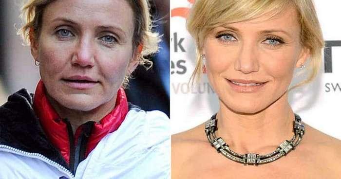 15 знаменитостей, которым не стоит отказываться от макияжа (16 фото)