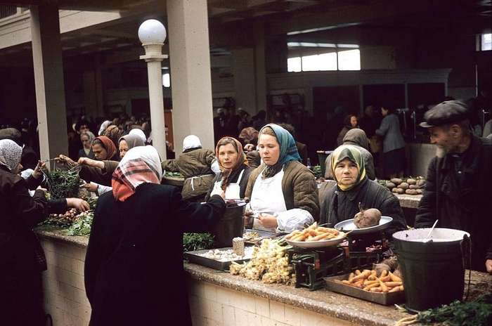 Рынки Советского Союза: было всё, и даже больше! (32 фото)