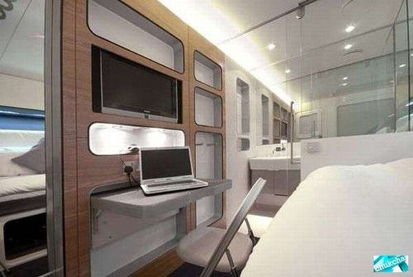 Классная гостиница в вертолете (9 фото)