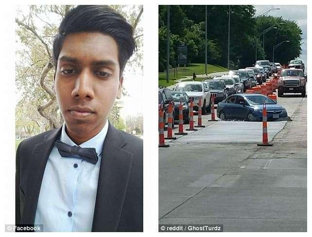 Водитель пытался срезать путь и вляпался по-крупному (3 фото)