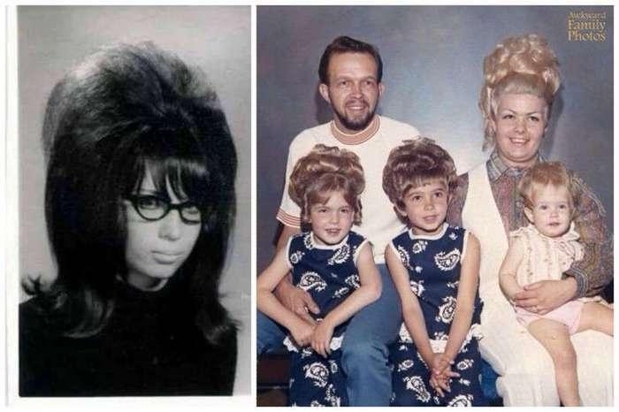 Сумасшедшие прически времен наших мам и бабушек (21 фото)
