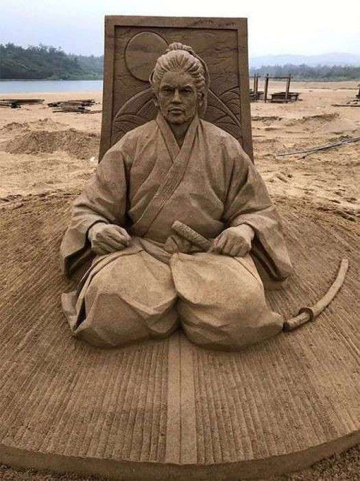 Потрясные песочные скульптуры Тосихико Хосаки (22 фото)