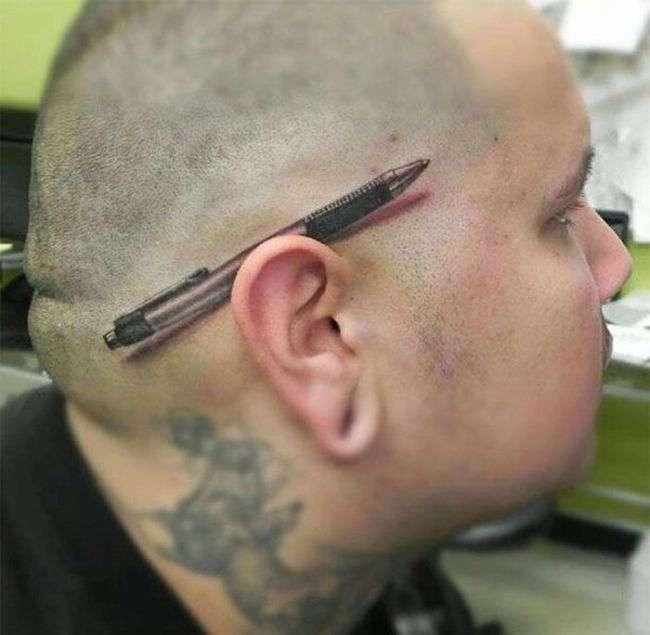 Потрясающие татуировки, сделанные на самом подходящем месте