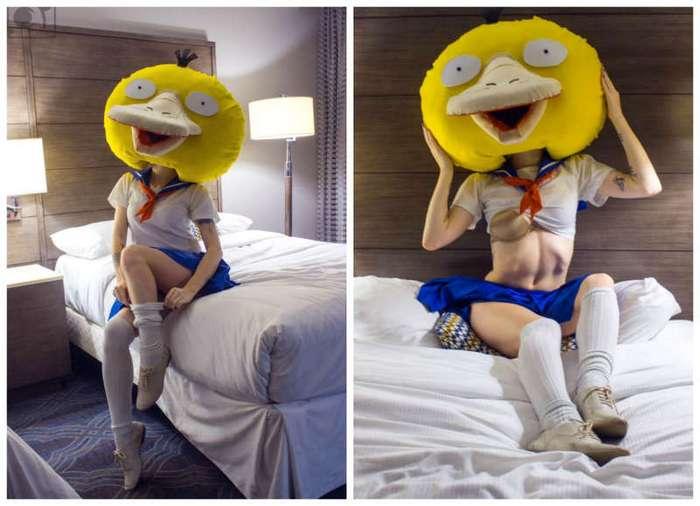 Странный, но сексуальный косплей: покемон Псидак