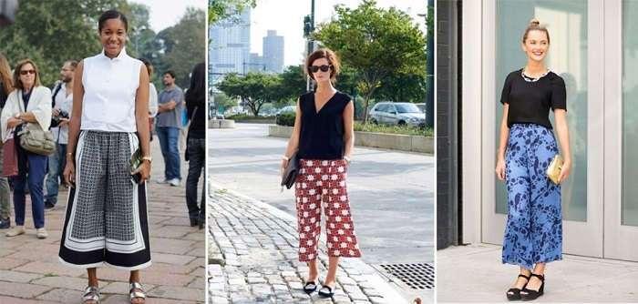 Как носить модные сегодня брюки-кюлоты: основные правила