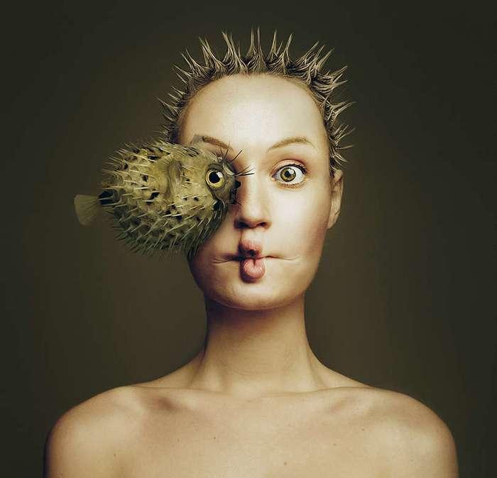 Креативная художница сделала портреты с животными