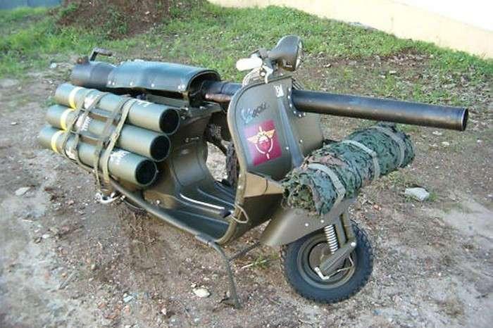 Bazooka Vespa – мотороллер, который мог уничтожать танки