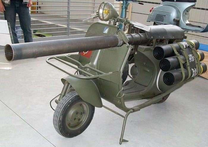 Bazooka Vespa - мотороллер, который мог уничтожать танки