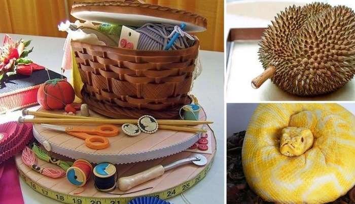 12 кондитерских шедевров, глядя на которые сразу и не поймёшь, что это торты