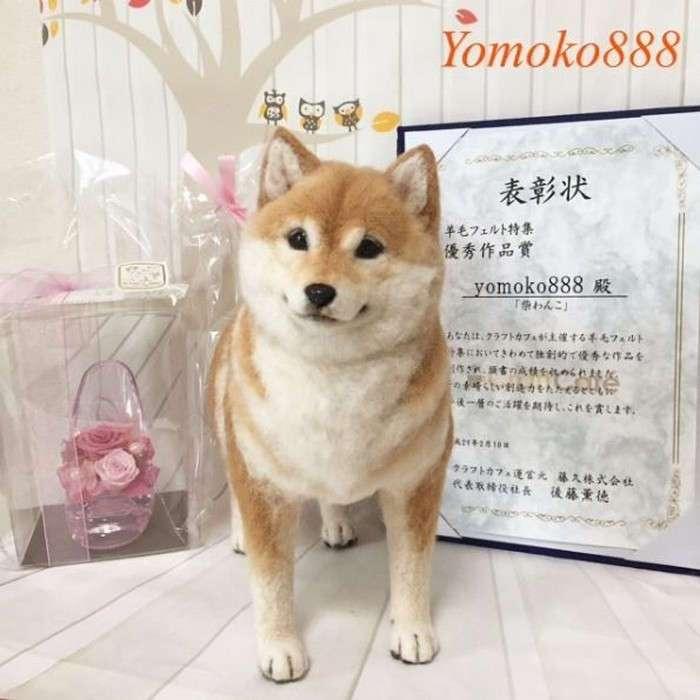 Почти живые: как японка мастерит удивительно -настоящих- животных из валяной шерсти