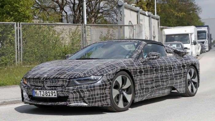 Долгожданный BMW i8 Spyder готовится выйти на дороги
