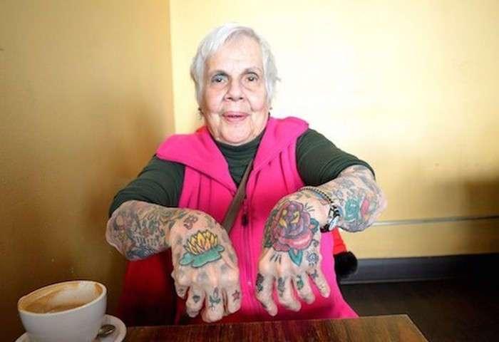 20 энергичных пенсионеров, которые отвечают на вопрос -как будет выглядеть твоя татуировка в старости?-