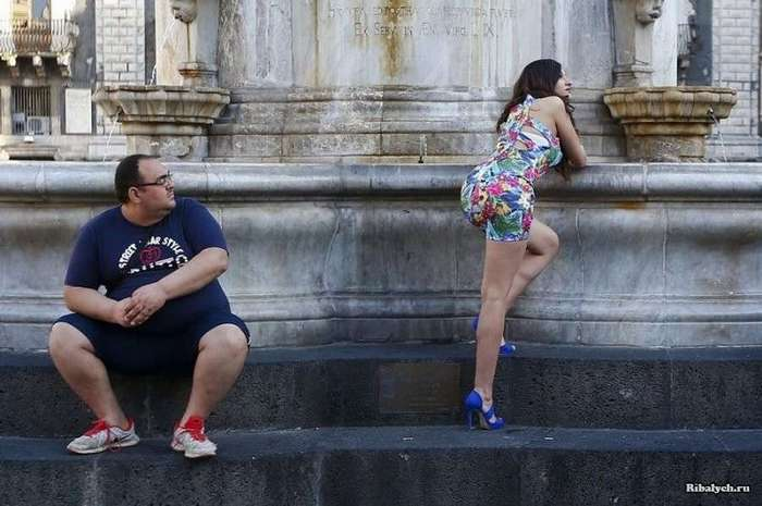 Природные инстинкты, или куда смотрят мужчины (30 фото)