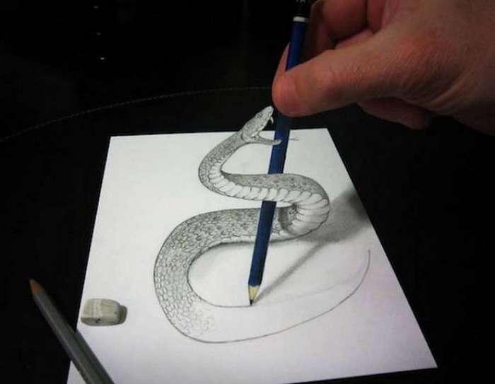 Поразительные трехмерные рисунки (25 фото)
