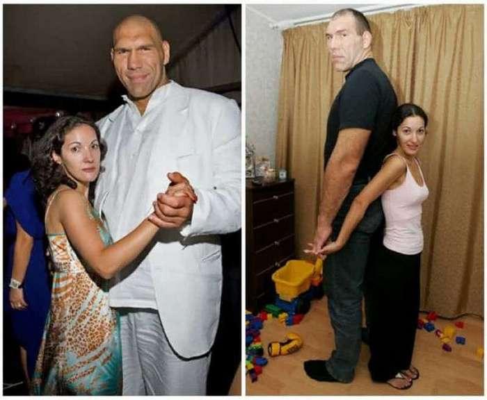 Спортсмены-дылды, которые выбрали в жены сексуальных коротышек