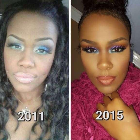 Девушки, научившиеся делать хороший макияж, несмотря на то, что сперва у них ничего не получалось
