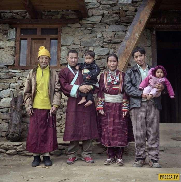 Традиция многомужества в Тибете (5 фото)
