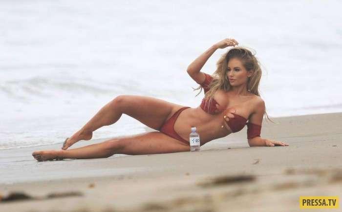 Amy Lee Summers модель из Новой Зеландии на пляже (12 фото)
