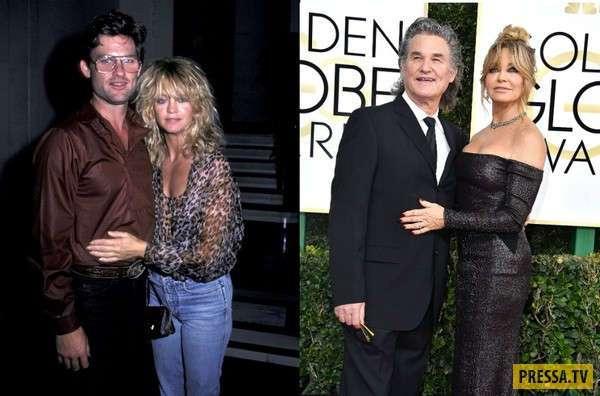 Звездные пары в начале отношений и сейчас (13 фото)