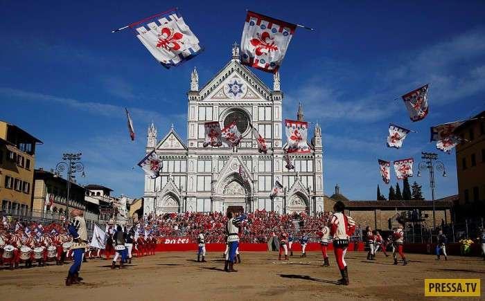 Исторический Флорентийский футбол (20 фото)