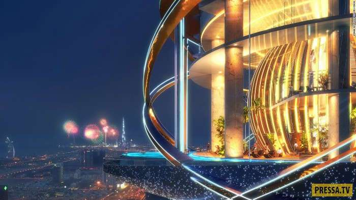 Уникальный небоскрёб в ОАЭ (8 фото)