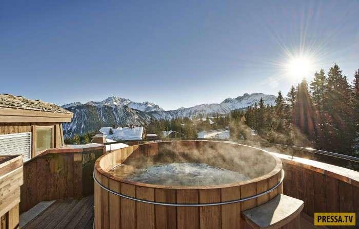 Курорты с открытыми бассейнами и горячими ваннами (15 фото)