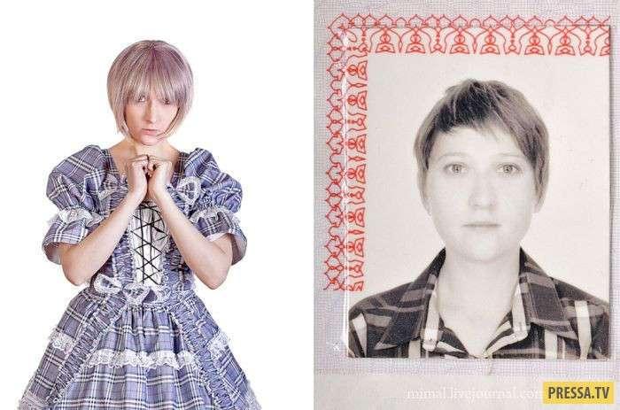 Забавная разница между обычным фото и в паспорте (25 фото)
