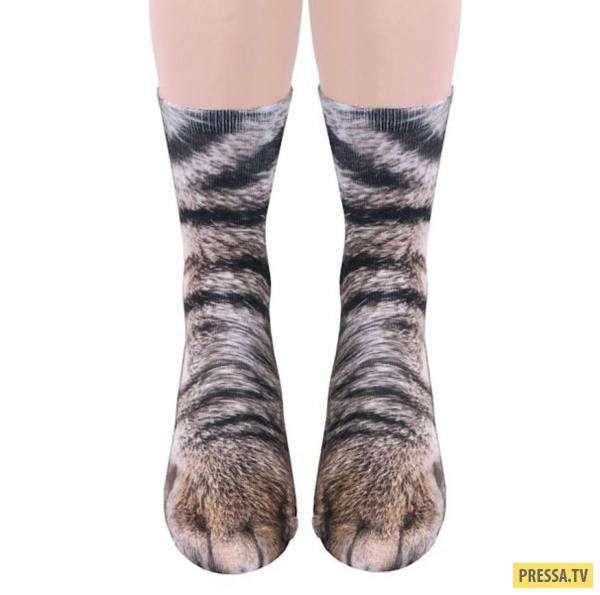 Креативные носки для любителей диких животных (4 фото)