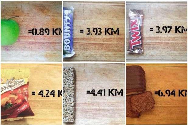 Сколько нужно бегать, чтобы компенсировать съеденное (2 фото)