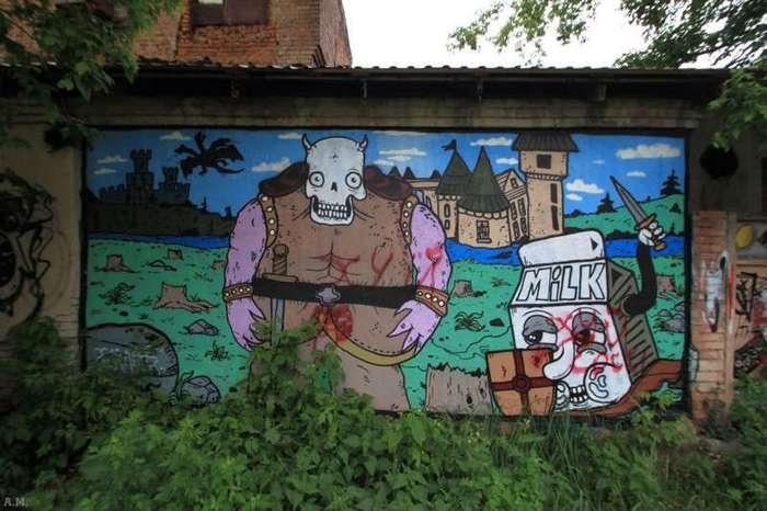 Российский и европейский стрит-арт (27 фото)