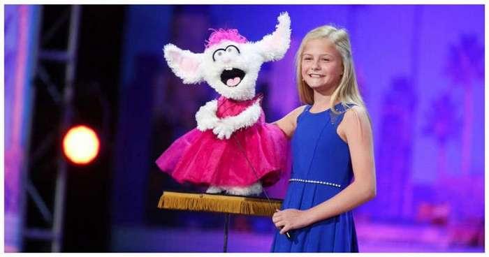 Маленькая чревовещательница растопила сердца жюри шоу талантов (4 фото + 3 видео)