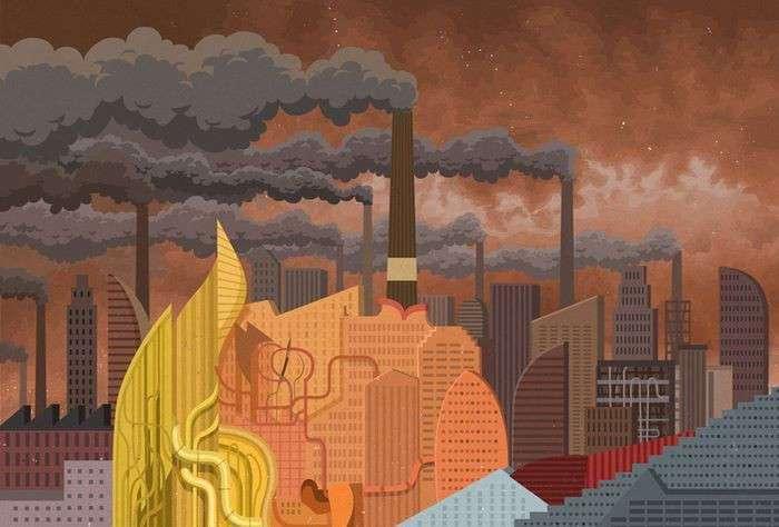 Жестокая реальность в иллюстрациях Джона Холкрофта (41 фото)