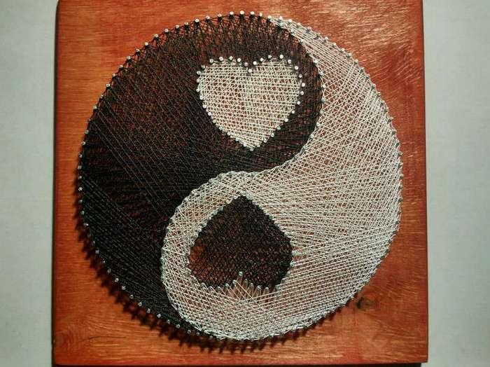 String Art, или настоящее искусство из гвоздей и ниток (12 фото)