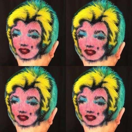 Новый модный тренд: волосы в качестве холста (16 фото)