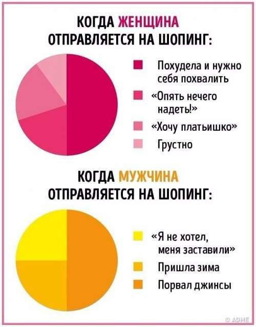 Отличия между мужчинами и женщинами в прикольной инфографике (10 фото)