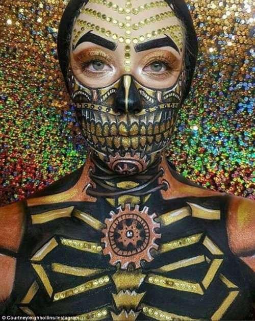 Невероятные образы визажиста-самоучки Кортни Холлинс (12 фото)