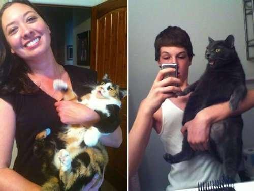 Кошки, которые не любят фотографироваться (15 фото)