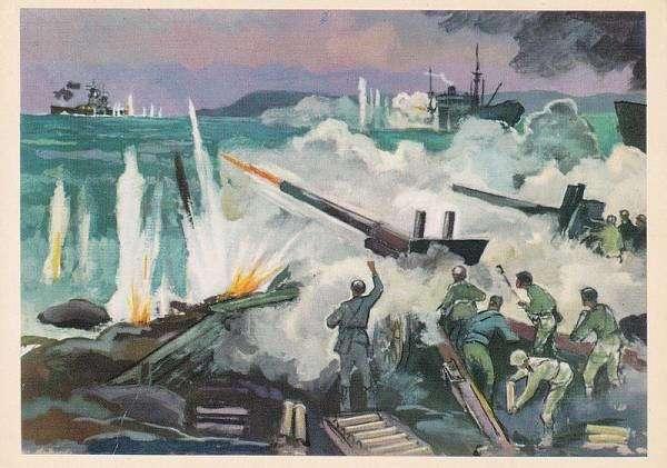 Крейсер против острова (6 фото)