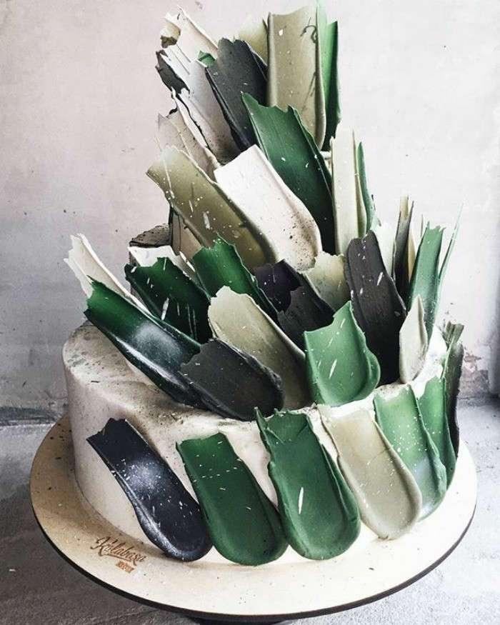 Российская кондитерская покорила Instagram своим тортами с шоколадными -мазками- (15 фото)