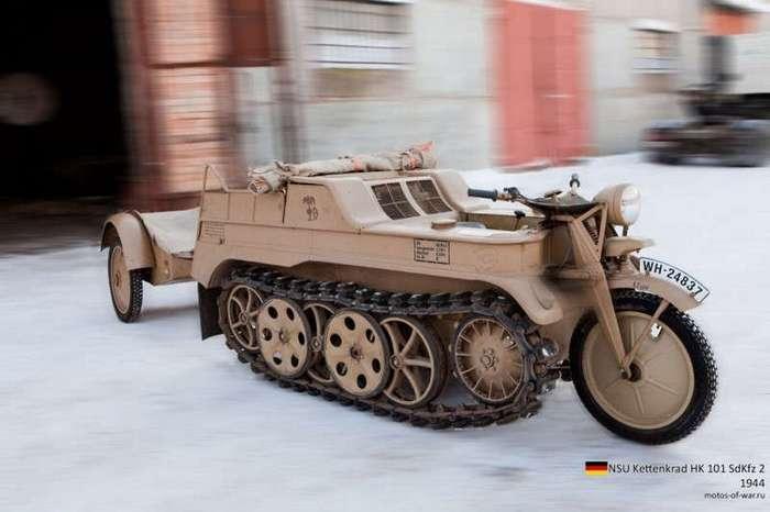 Техника прошлого. Немецкий гусеничный мототягач (17 фото)