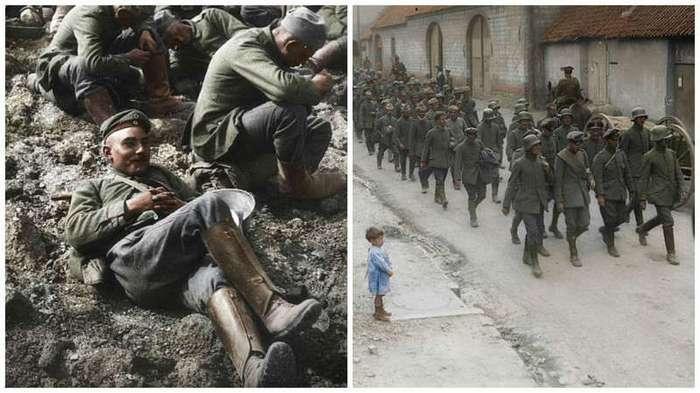 Немецкие военнопленные: фотографии времен Первой мировой в цвете (10 фото)